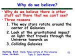 why do we believe