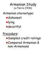armenian study la pierre 1936