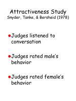 attractiveness study snyder tanke bersheid 1978101