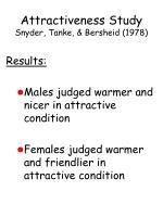 attractiveness study snyder tanke bersheid 1978102