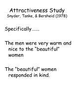 attractiveness study snyder tanke bersheid 1978104
