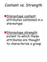 content vs strength