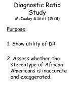 diagnostic ratio study mccauley stitt 1978
