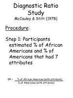 diagnostic ratio study mccauley stitt 197867