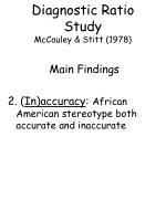 diagnostic ratio study mccauley stitt 197872