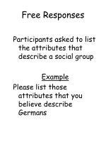 free responses