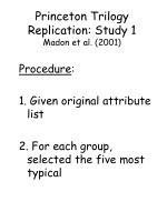 princeton trilogy replication study 1 madon et al 2001