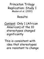 princeton trilogy replication study 1 madon et al 200180