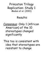 princeton trilogy replication study 1 madon et al 200181