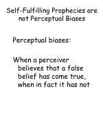self fulfilling prophecies are not perceptual biases