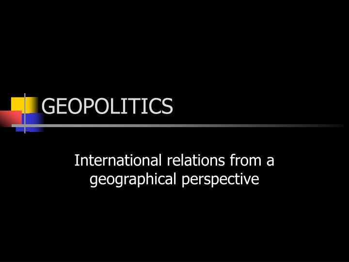 geopolitics n.