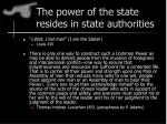 the power of the state resides in state authorities