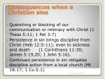 consequences when a christian sins