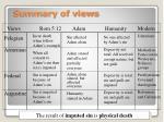 summary of views