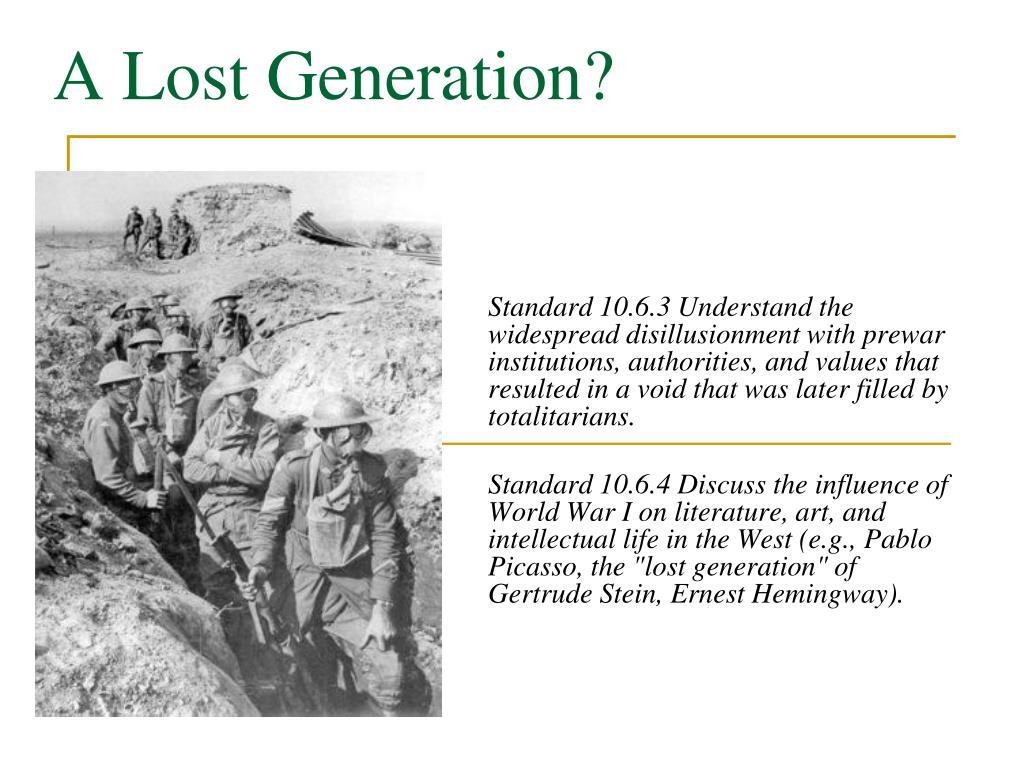 a lost generation l.