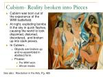 cubism reality broken into pieces