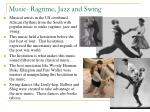 music ragtime jazz and swing