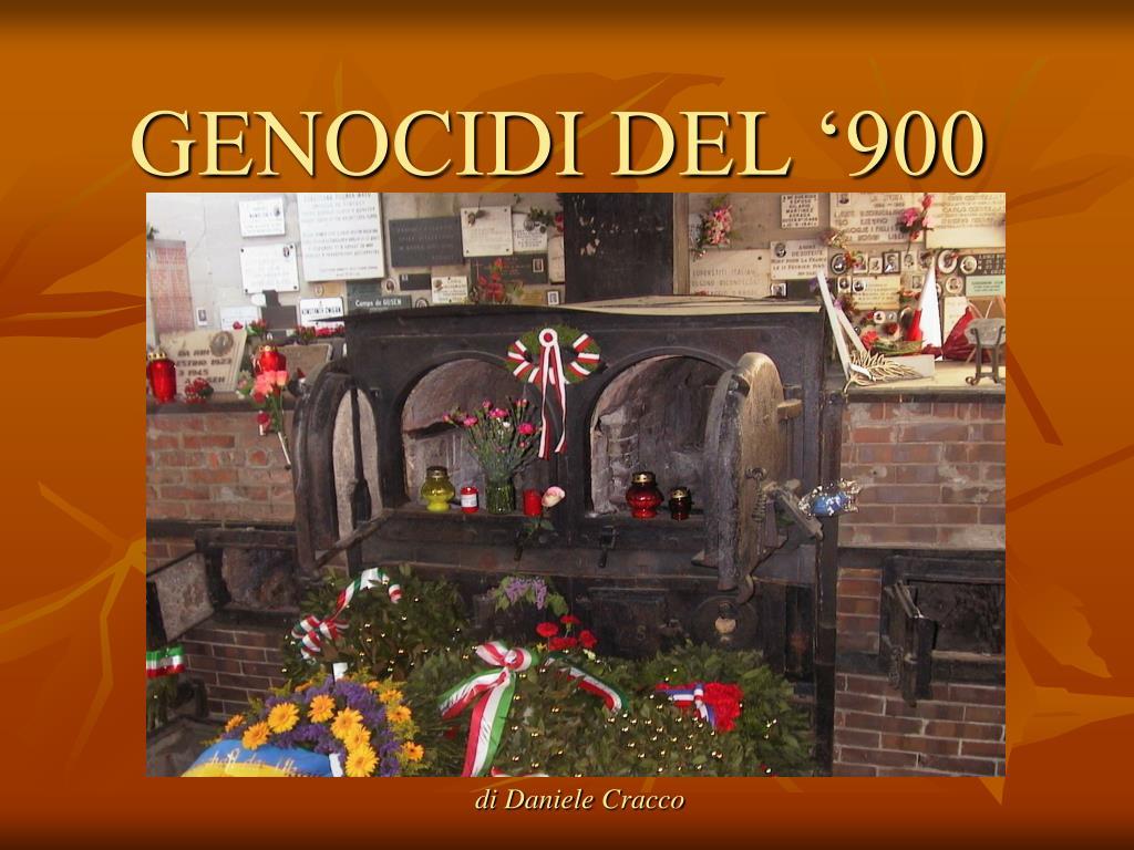 genocidi del 900 l.
