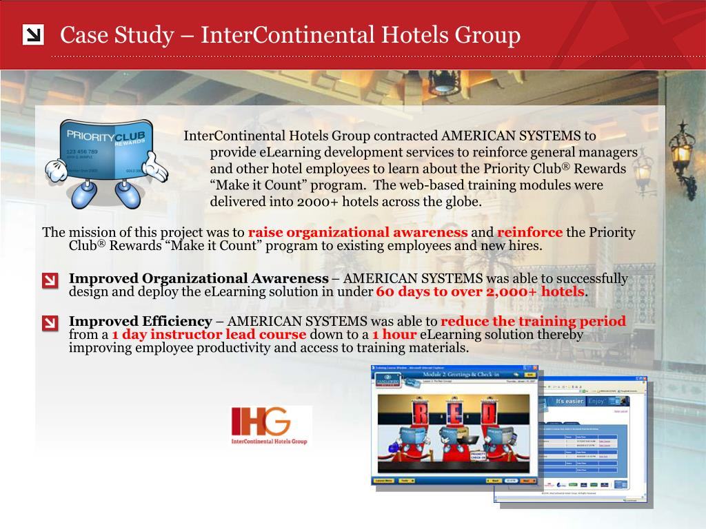case study intercontinental hotels group l.