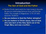 introduction the son of god and the father