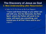 the discovery of jesus as god 2 new understanding after resurrection19