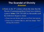 the scandal of divinity arianism