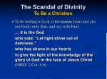 the scandal of divinity to be a christian28