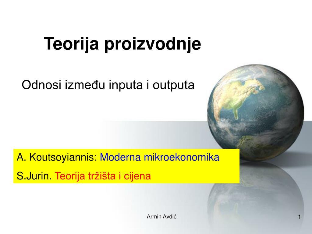 teorija proizvodnje l.