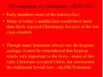 development of christianity ad 63 31355