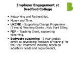employer engagement at bradford college