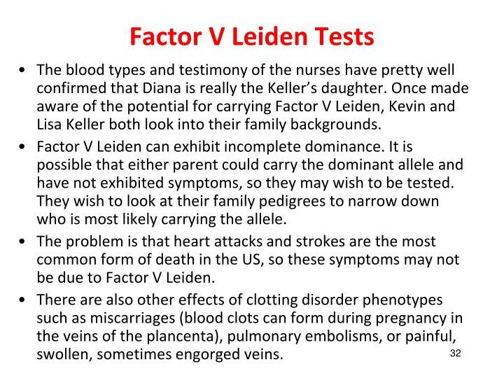 Factor leiden case study