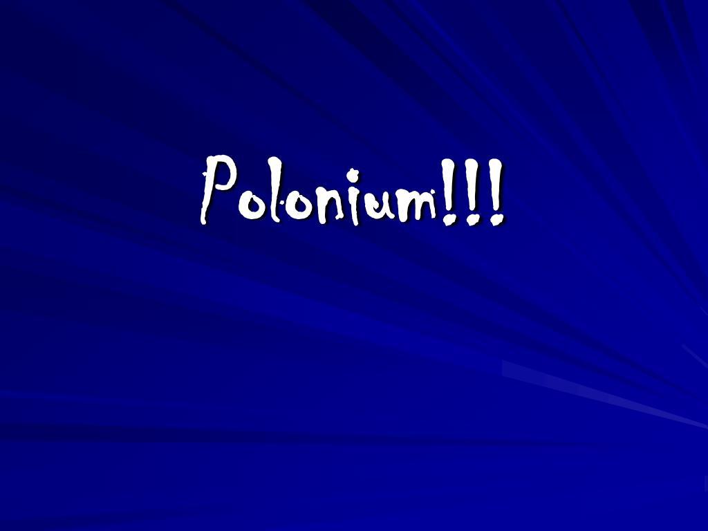 polonium l.