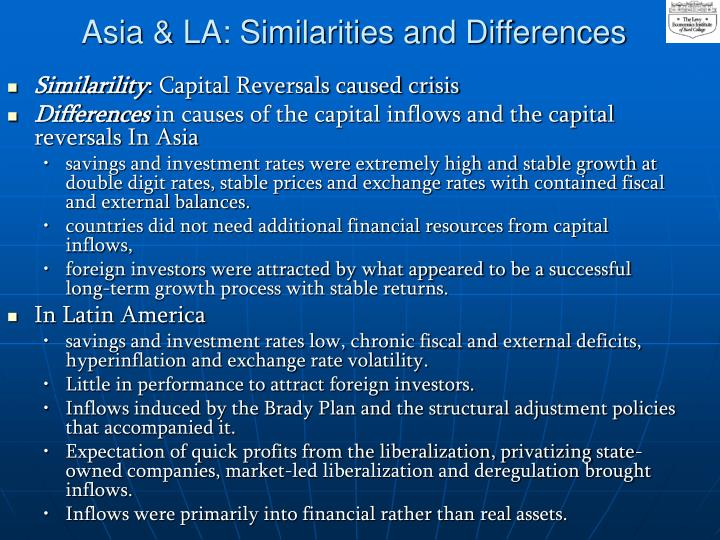 Asia la similarities and differences