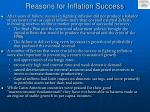 reasons for inflation success