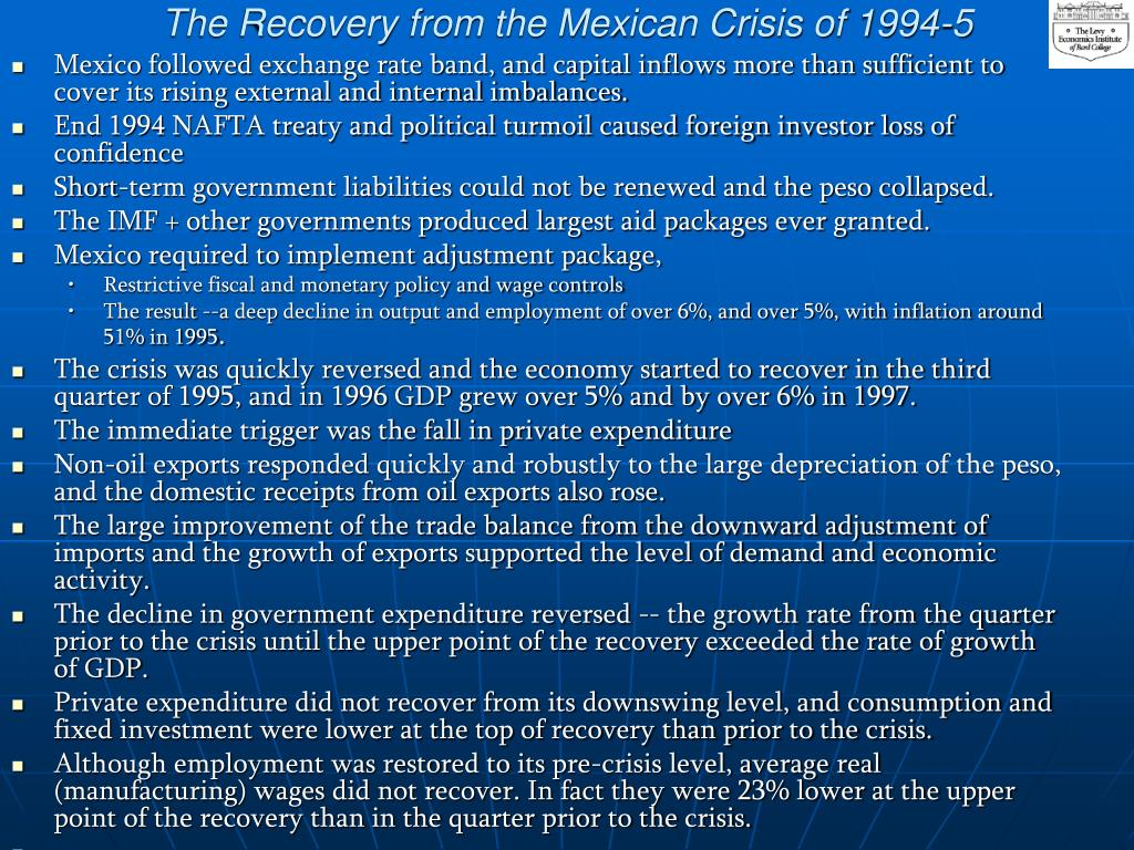 The Recovery from the Mexican Crisis of 1994-5