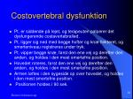 costovertebral dysfunktion