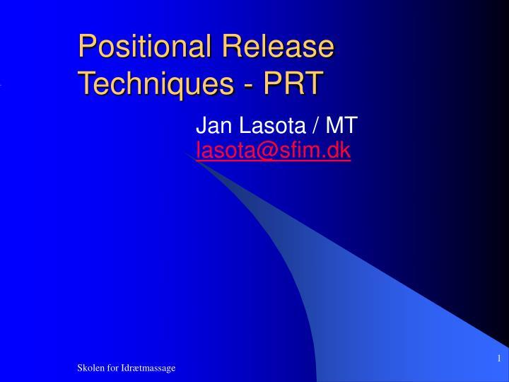 positional release techniques prt n.