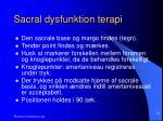 sacral dysfunktion terapi