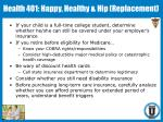 health 401 happy healthy hip replacement