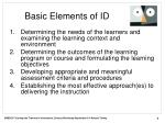 basic elements of id