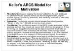 keller s arcs model for motivation