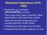 nicholaus copernicus 1473 1543
