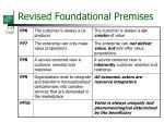 revised foundational premises11