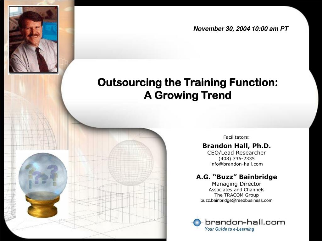 outsourcing the training function a growing trend l.