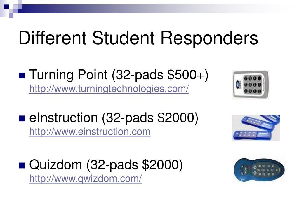 Different Student Responders