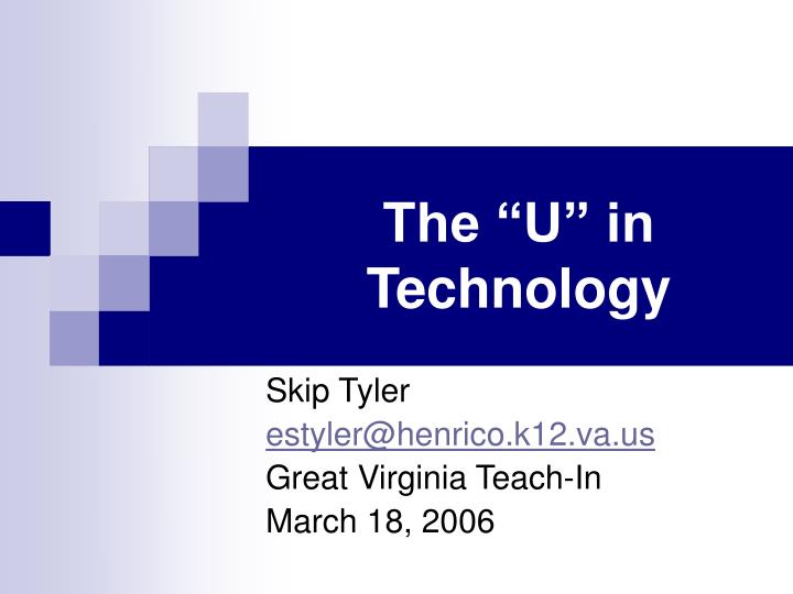 The u in technology