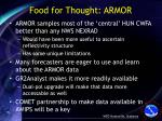 food for thought armor