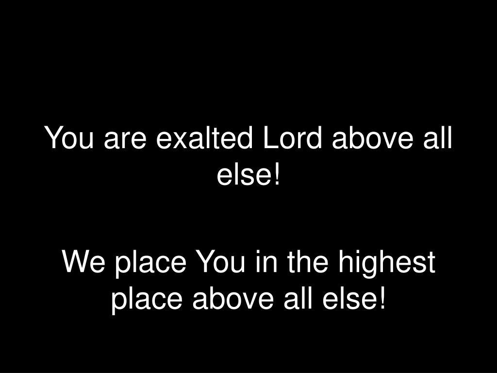 above all else l.