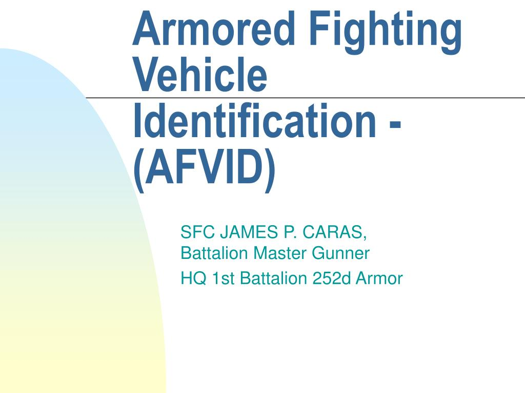 armored fighting vehicle identification afvid l.
