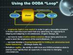 using the ooda loop